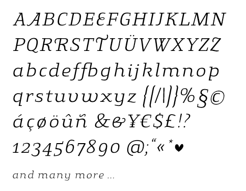 Specimen für 08. Gingar Italic Light