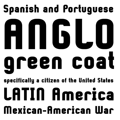 Sample für Gringo Sans Bold Narrow