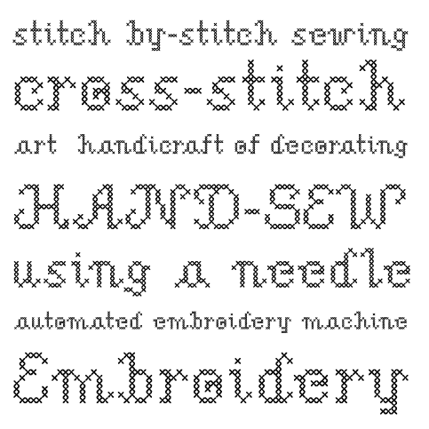 Sample für Stich Me Font