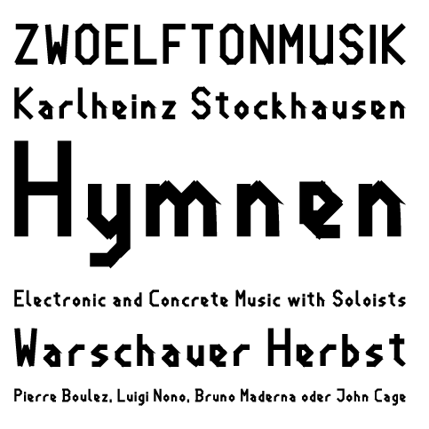 Sample für Zwoelfton Bold